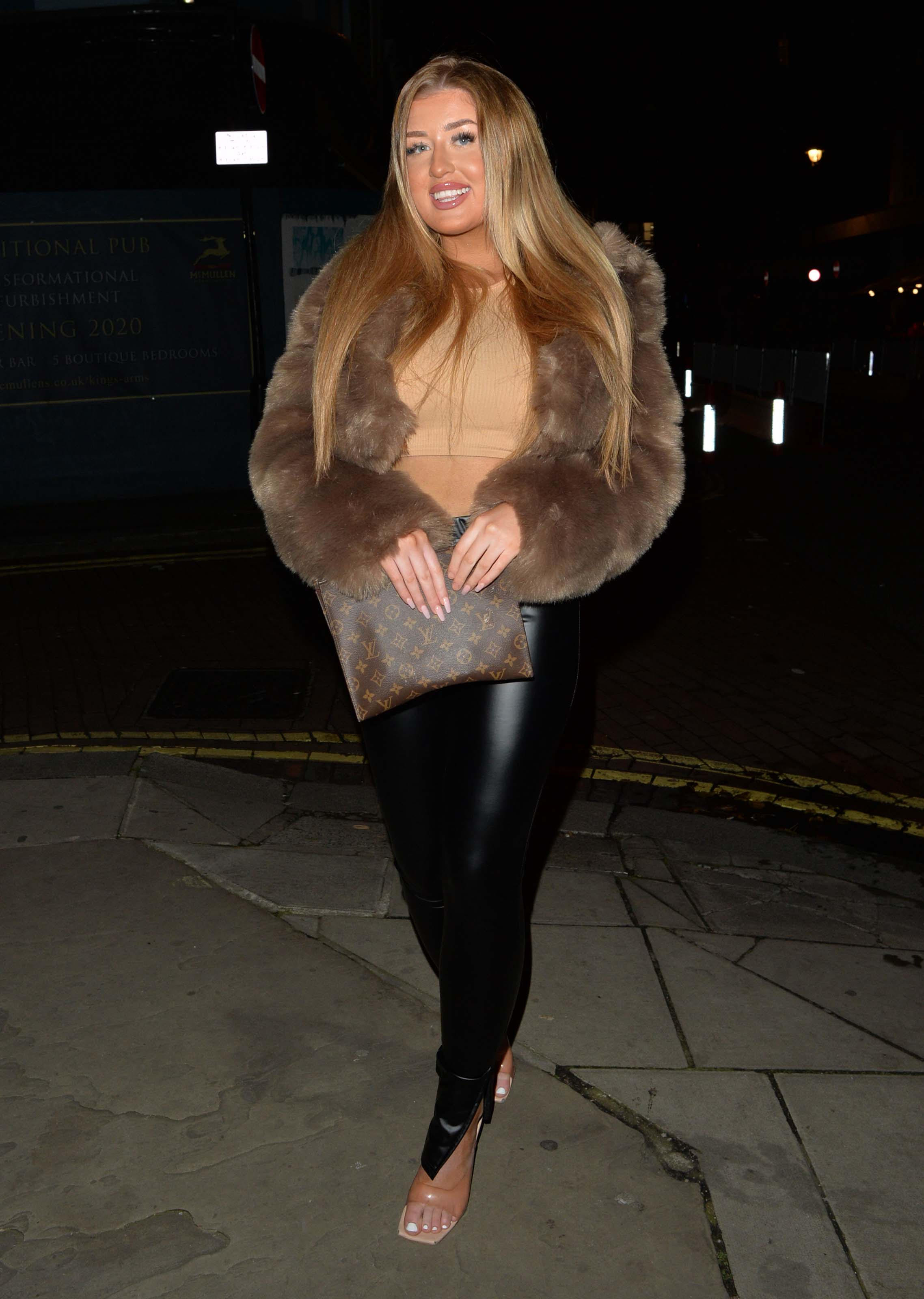 Jess Gale seen heading for a night out