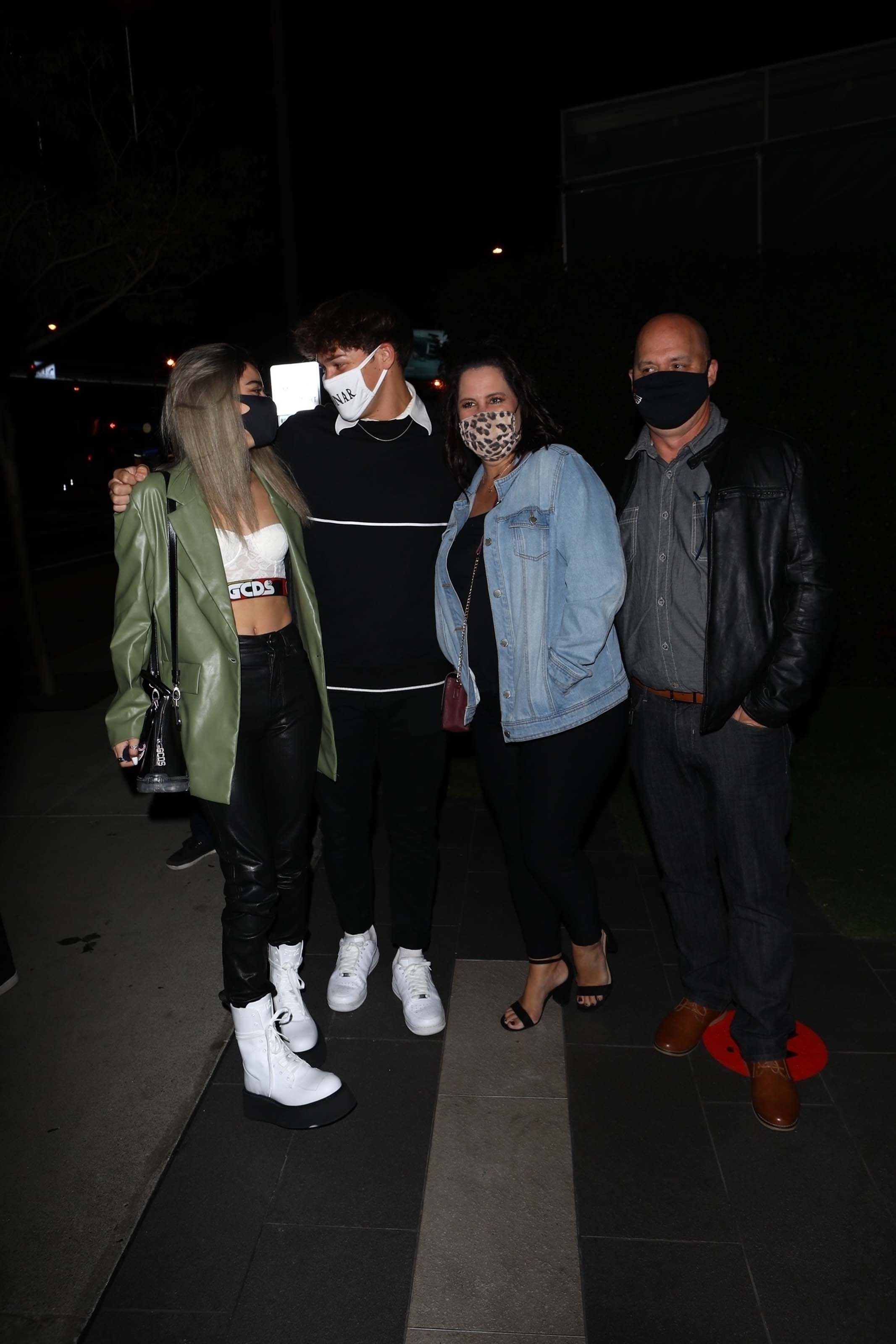 Dixie D'amelio is seen out celebrating with friends