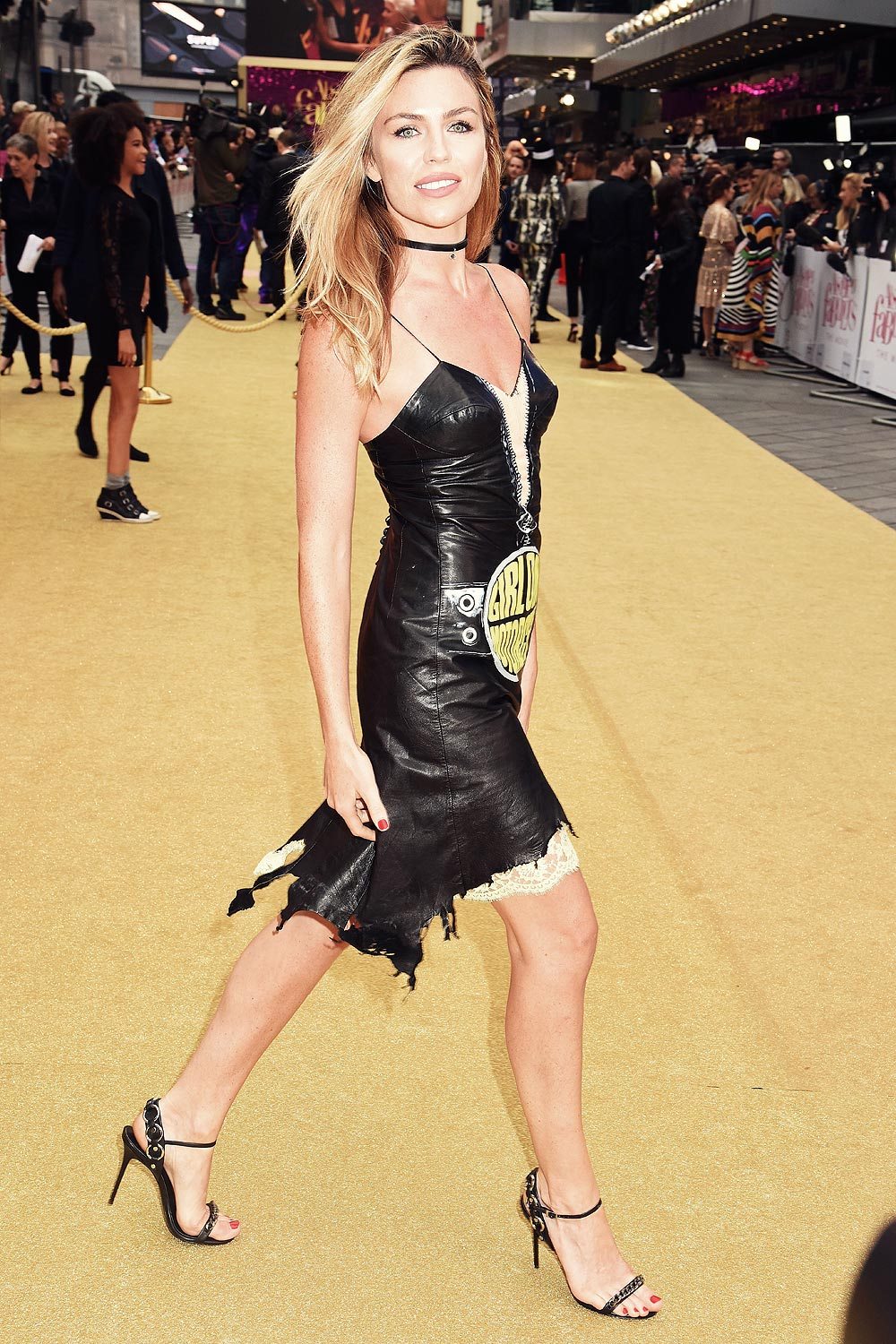 Abbey Clancy Attends Absolutely Fabulous The Movie