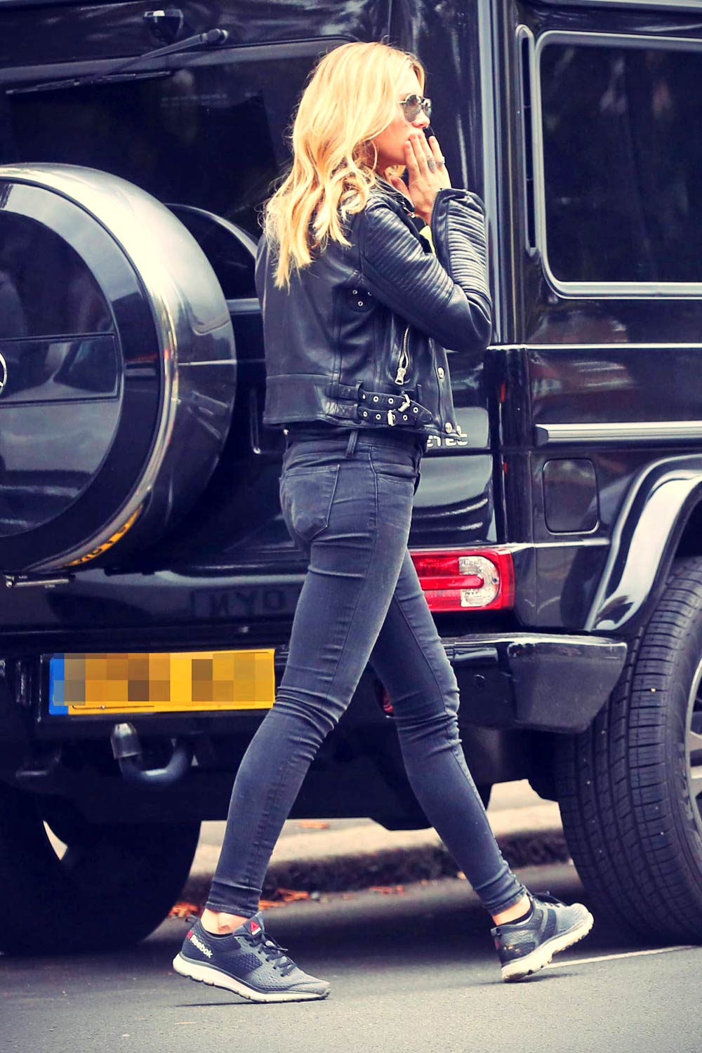 Abbey Clancy out and about London
