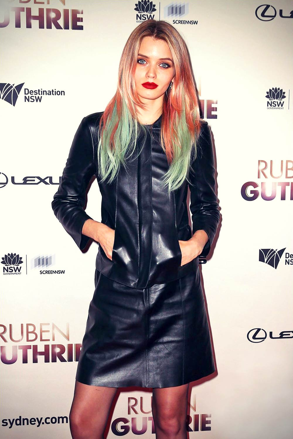 Abbey Lee Kershaw attends the The Ritz screening