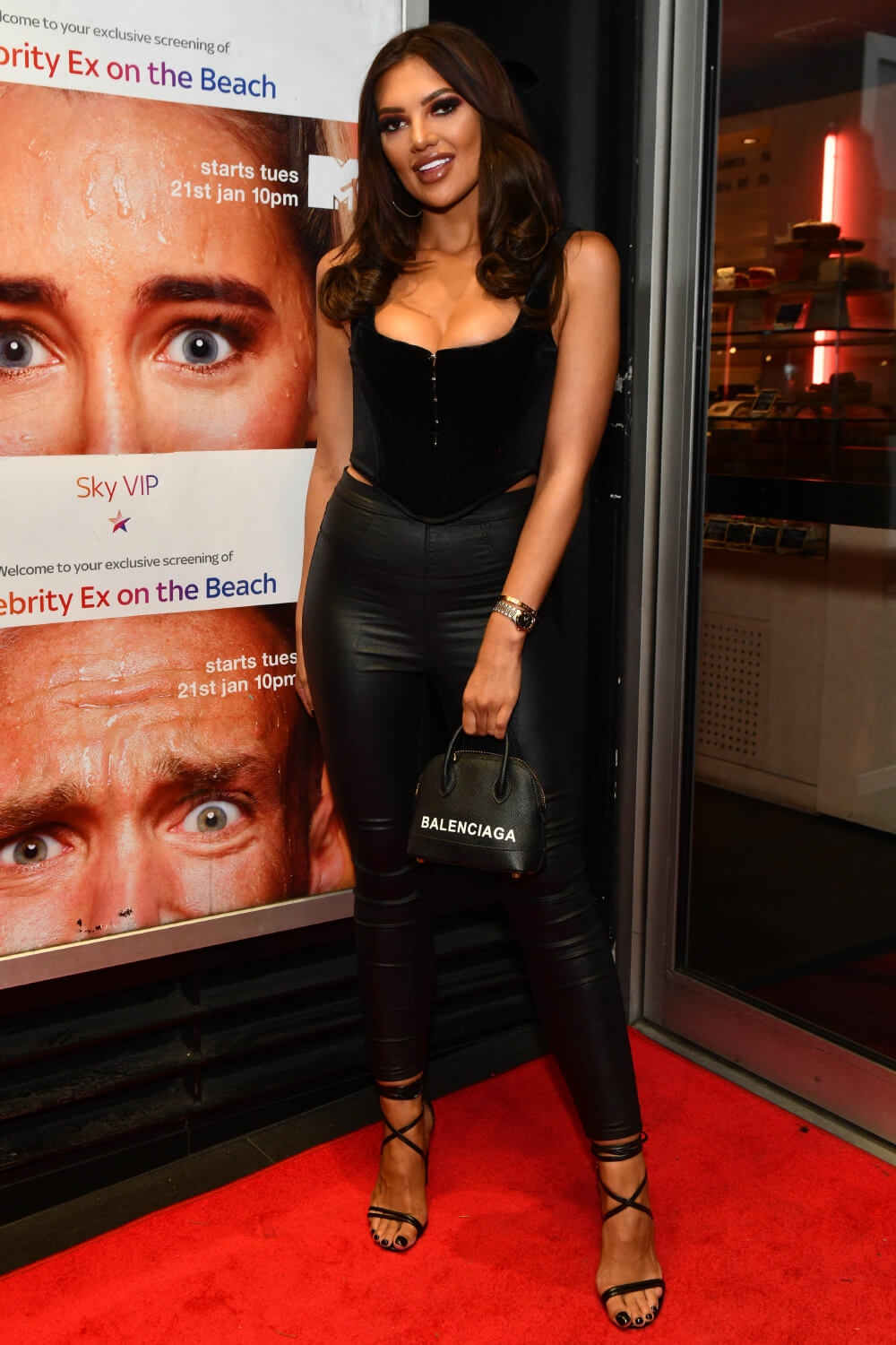 Abbie Holborn attends Celebrity Ex on the Beach celebrate the launch