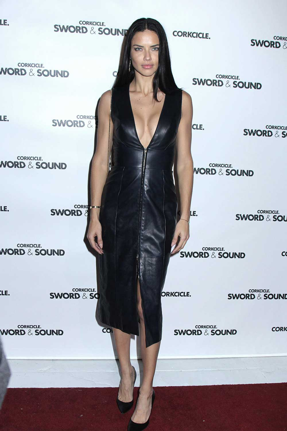 Adriana Lima at Corkcircle Hosting Sword & Sound