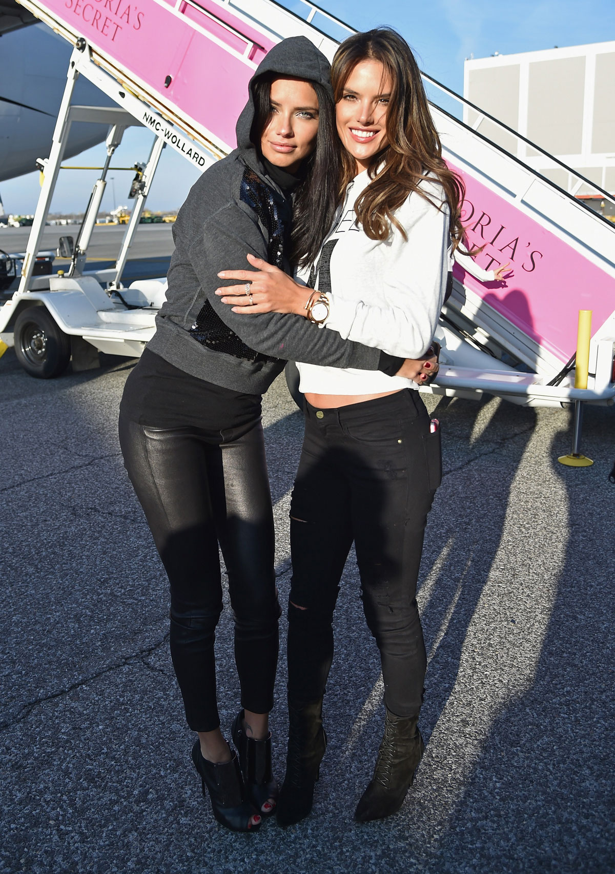 Adriana Lima departs for London for the 2014 Victoria's Secret Fashion Show
