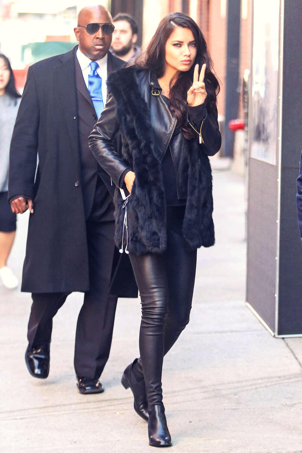 Adriana Lima headed to a photoshoot at Milk Studios