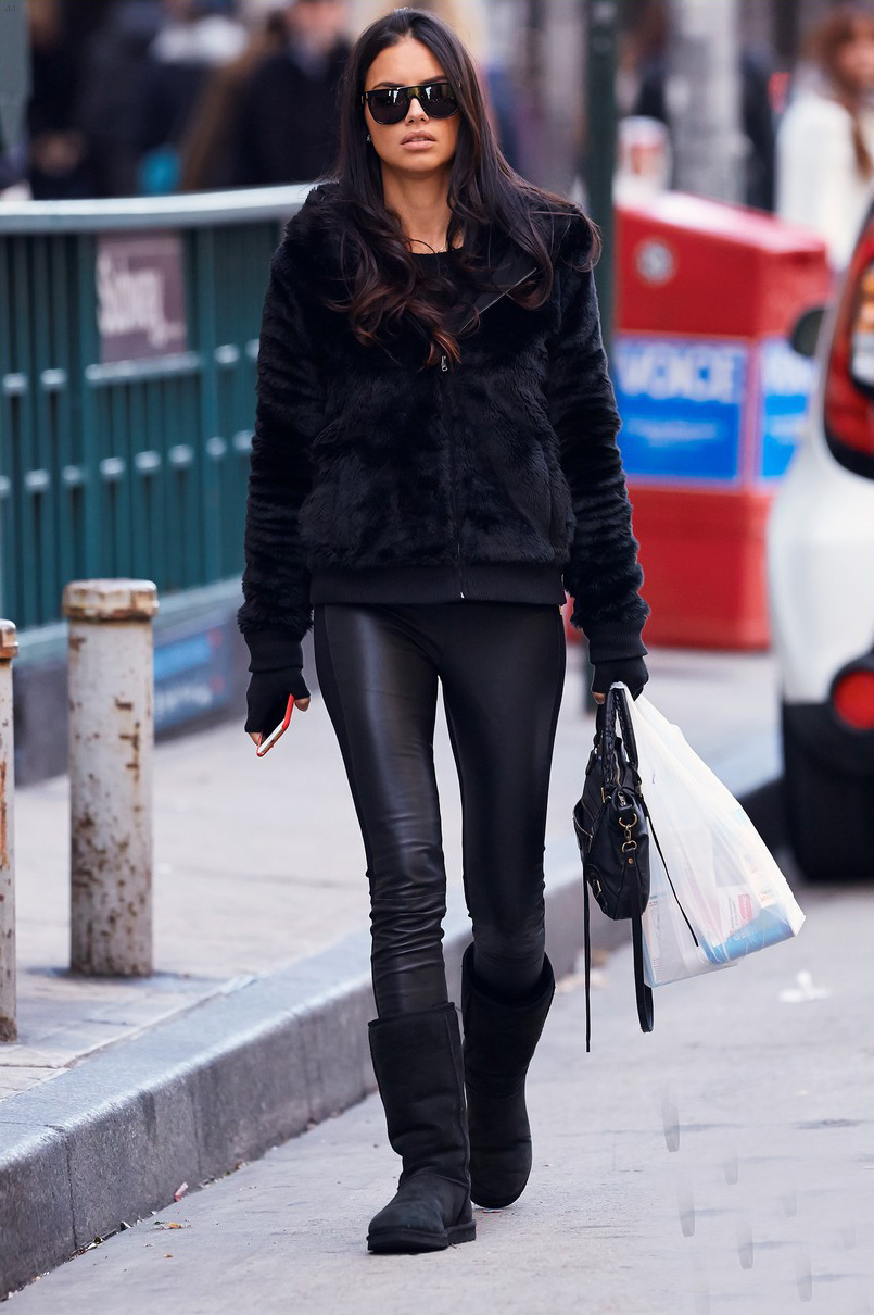 Adriana Lima was spotted leaving a Duane Reade pharmacy