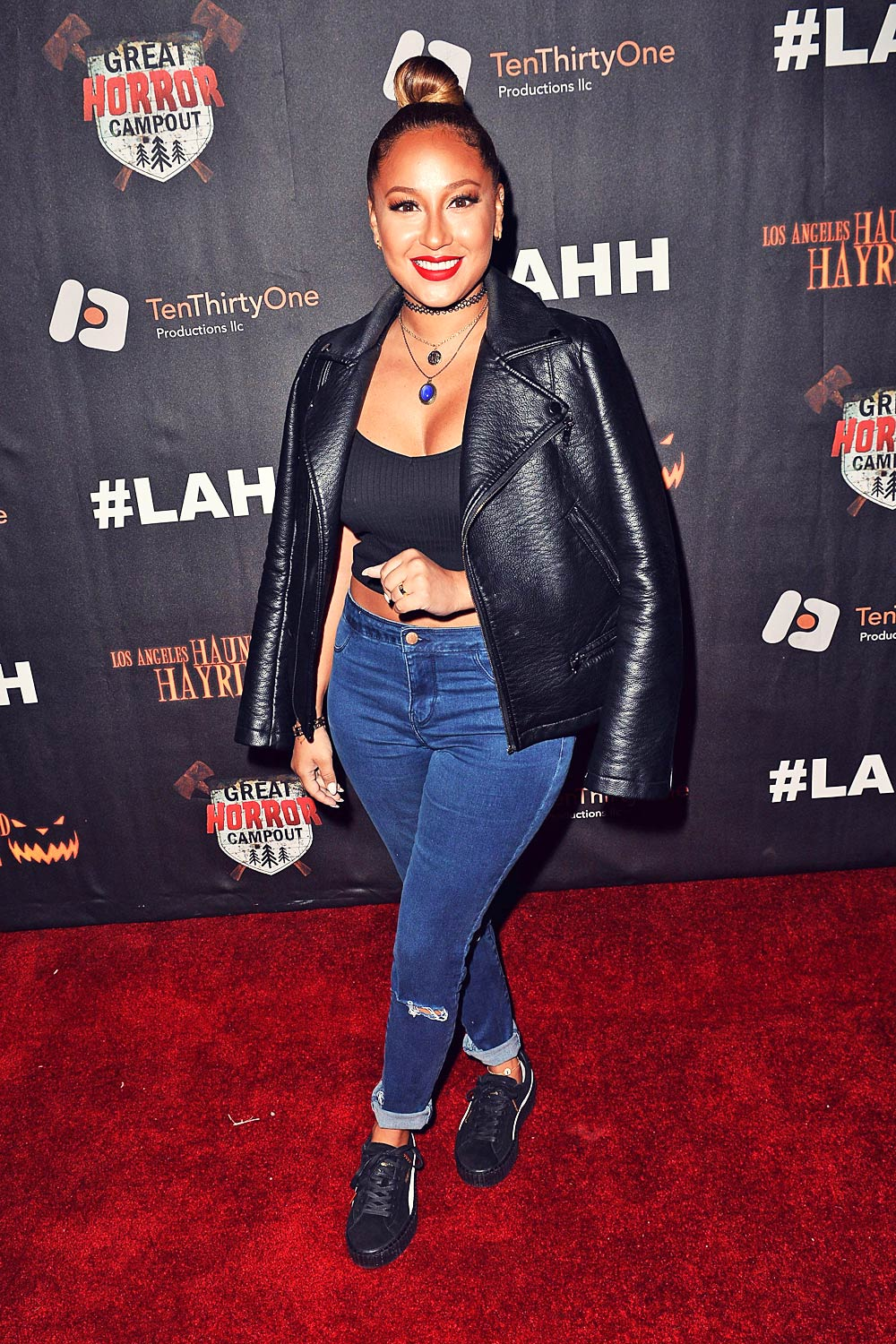 Adrienne Bailon attends Griffith Park Haunted Hayride Opening Night