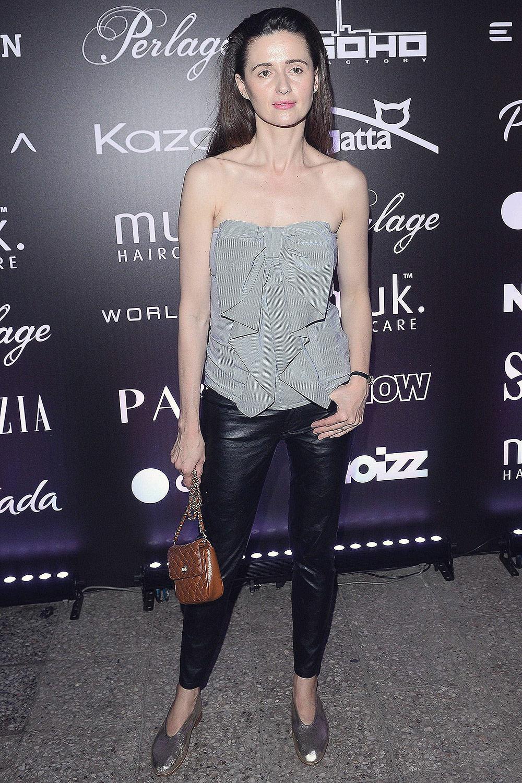 Agnieszka Grochowska attends the Pokaz Roberta Kupisza Fashion Show