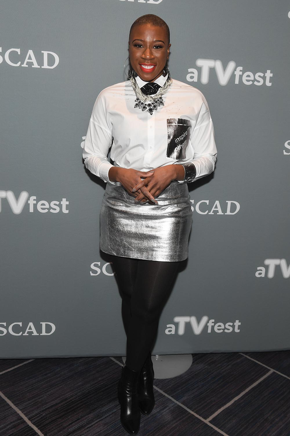 Aisha Hinds attends 5th Annual aTVfest at Four Seasons Hotel