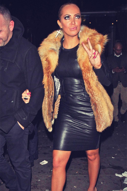 Aisleyne Horgan-Wallace leaving Cafe de Paris night club