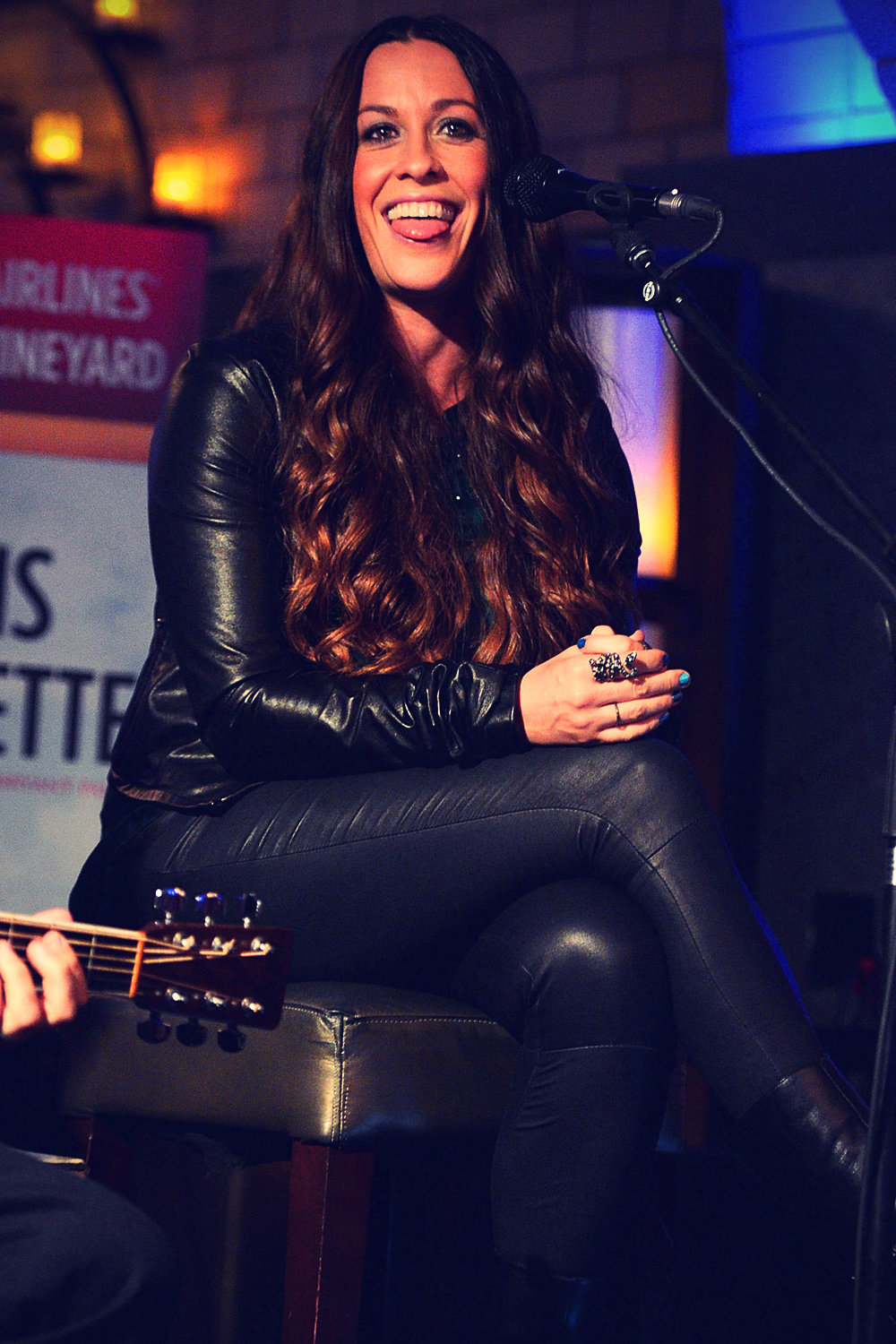 Alanis Morissette performs during Live in the Vineyard