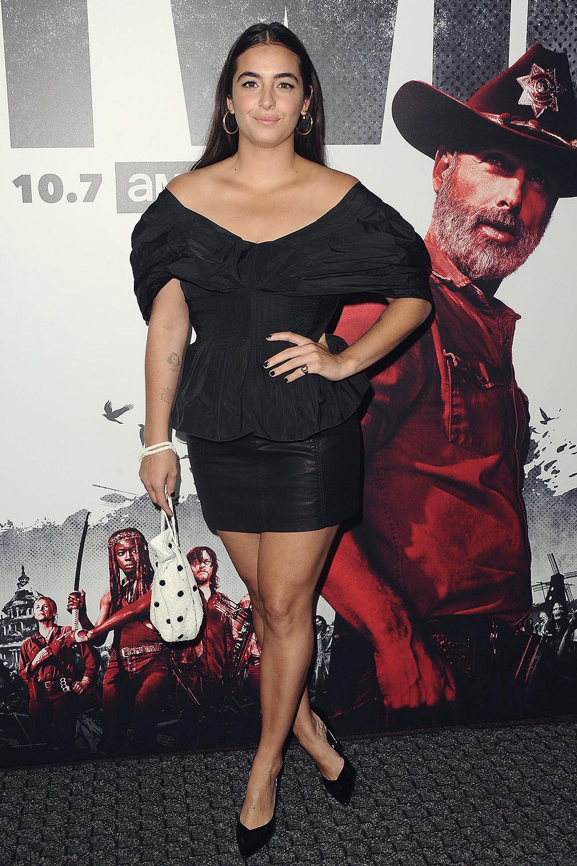 Alanna Masterson attends The Walking Dead Season 9