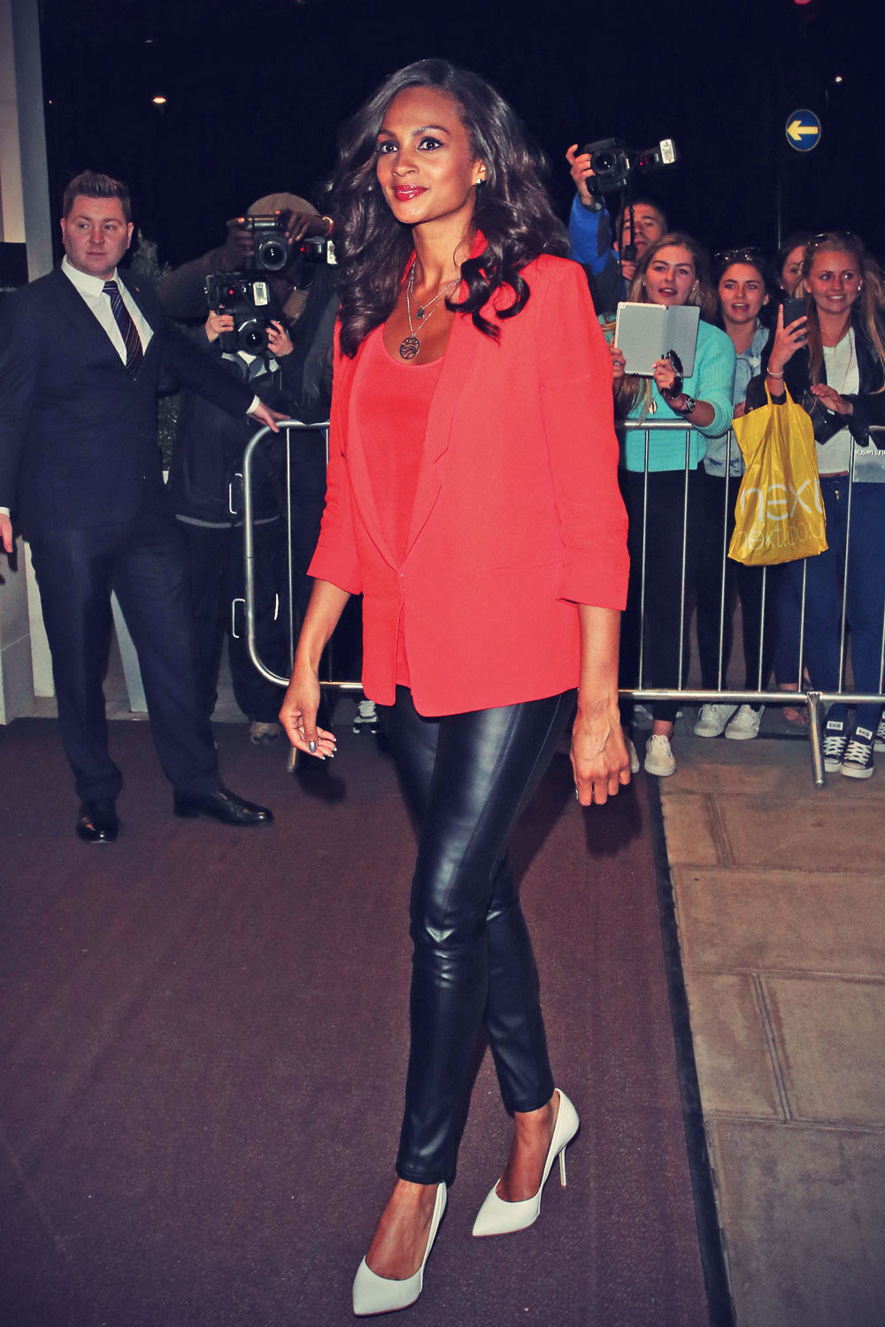 Alesha Dixon arriving at The Park Lane Hotel for Britain's Got Talent
