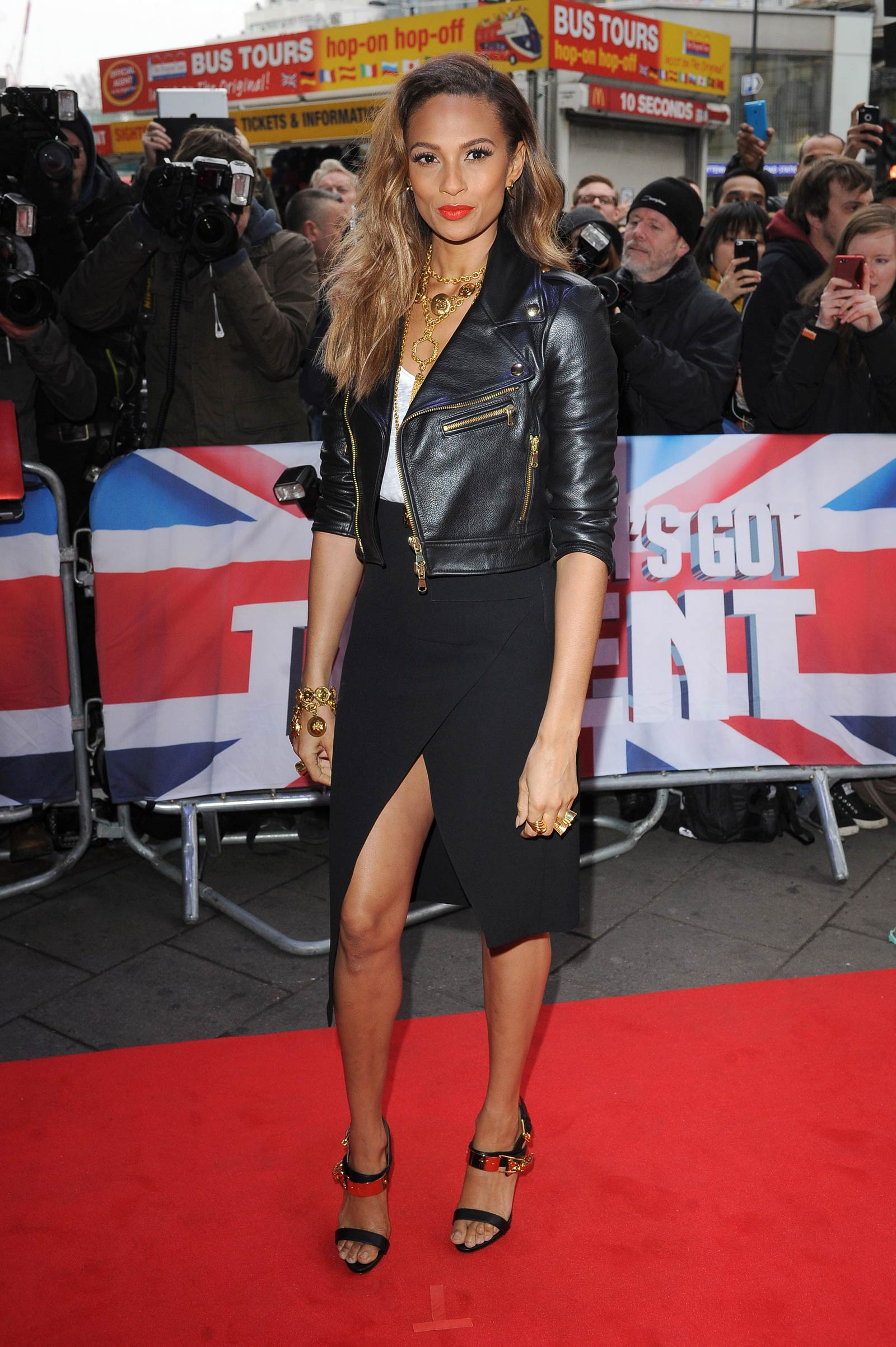 Alesha Dixon attends Britain Got Talent Auditions