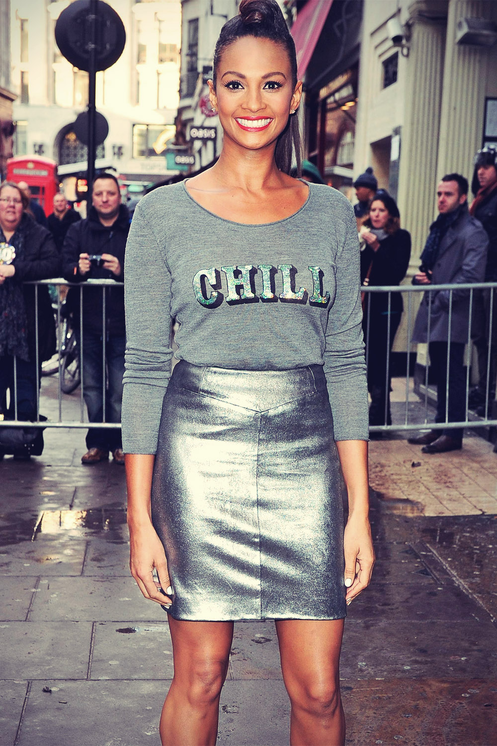 Alesha Dixon attends Britain's Got Talent auditions