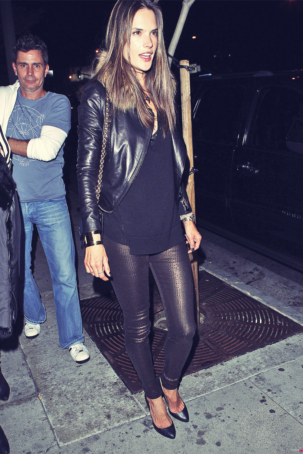 Alessandra Ambrosio at club Bootsy Bellows