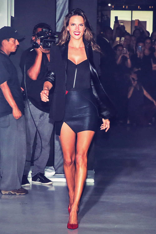 Alessandra Ambrosio attends the 2014 Schutz Fall Collection Fashion Show