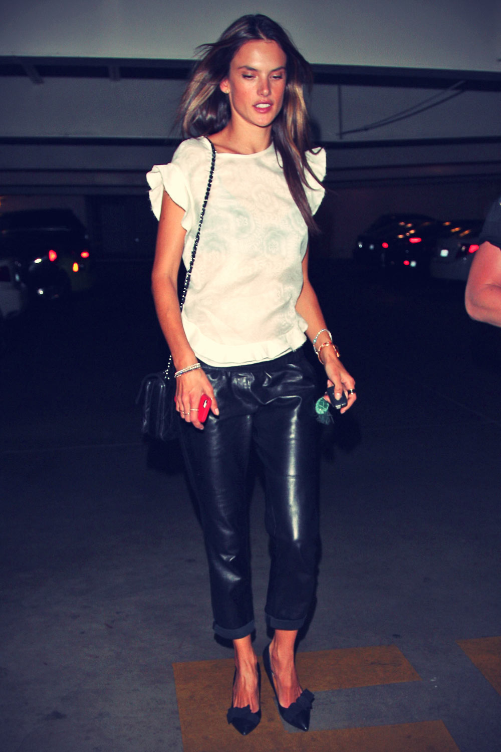 Alessandra Ambrosio enjoys a late night out in Hollywood