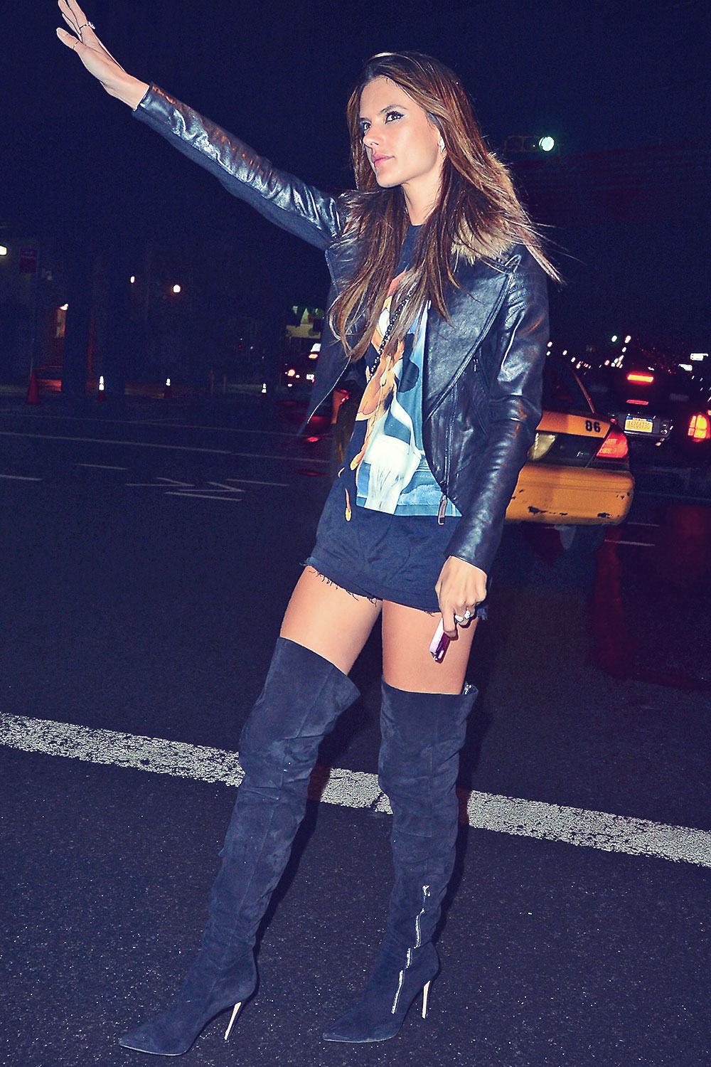 Alessandra Ambrosio was spotted out in NYC