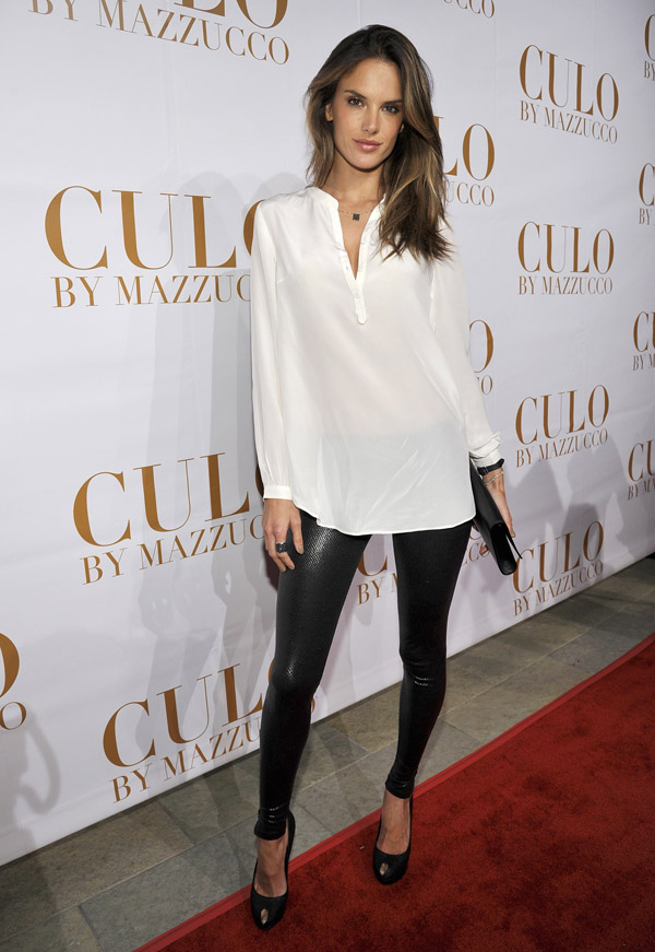 Alessandra Ambrosio at the launch of CULO by Mazzucco