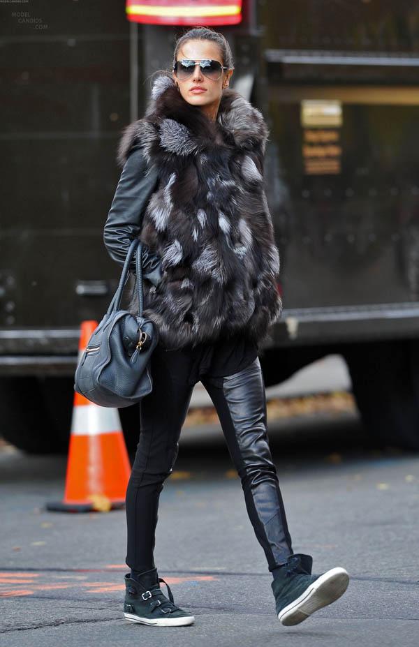 Alessandra Ambrosio in NYC