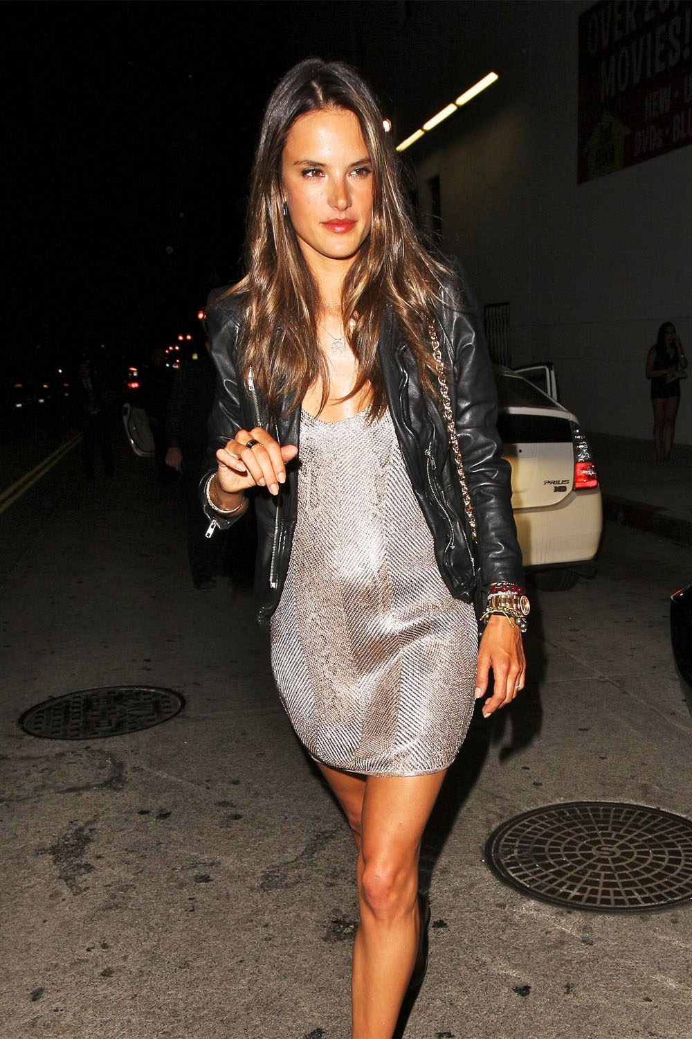 Alessandra Ambrosio leaving the Lure nightclub