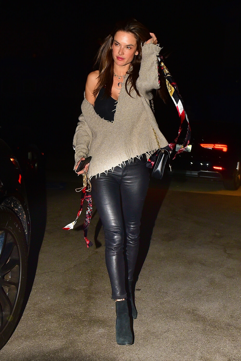 Alessandra Ambrosio out for dinner