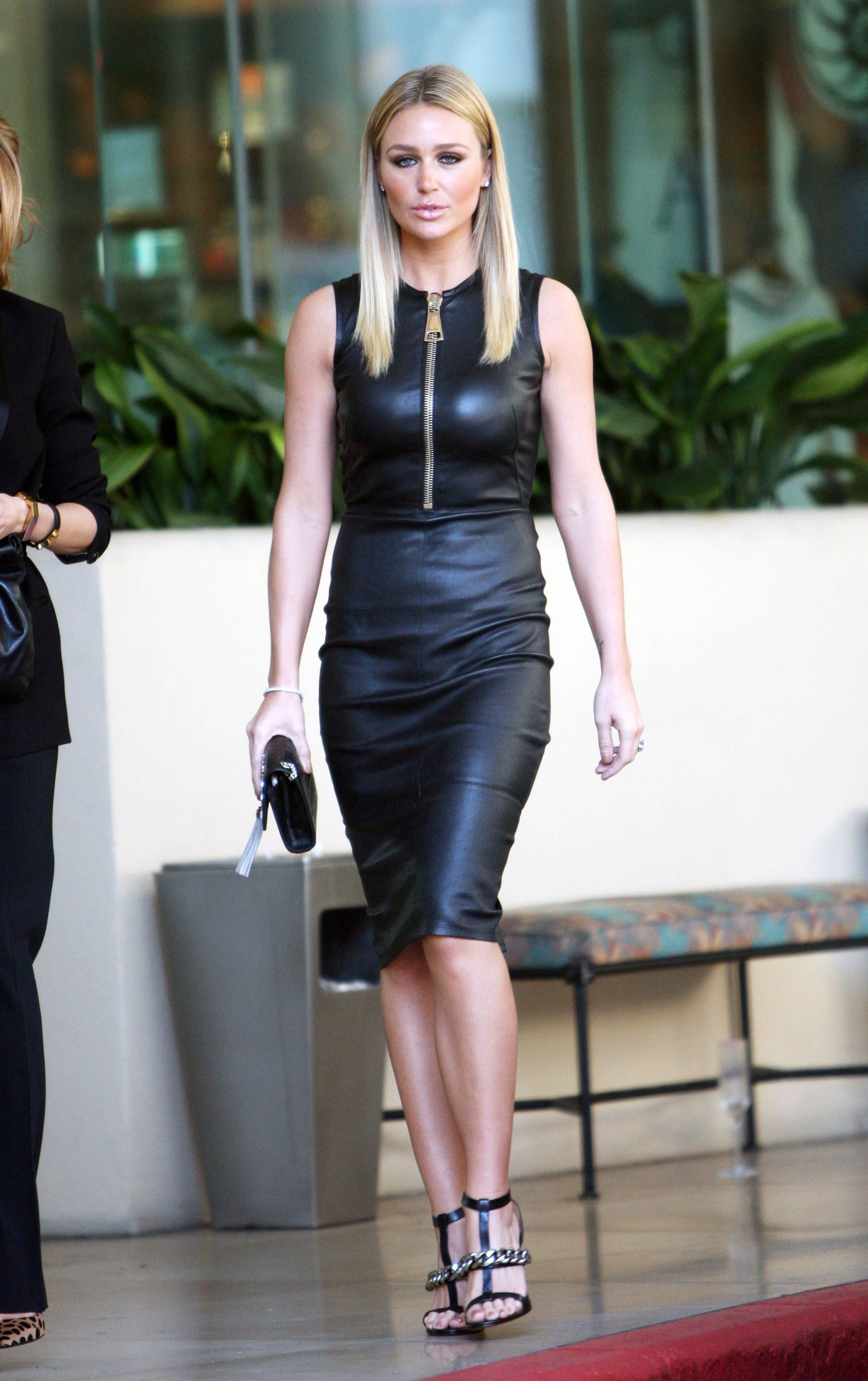 Alex Gerrard Arriving For The Grammy S Leather Celebrities