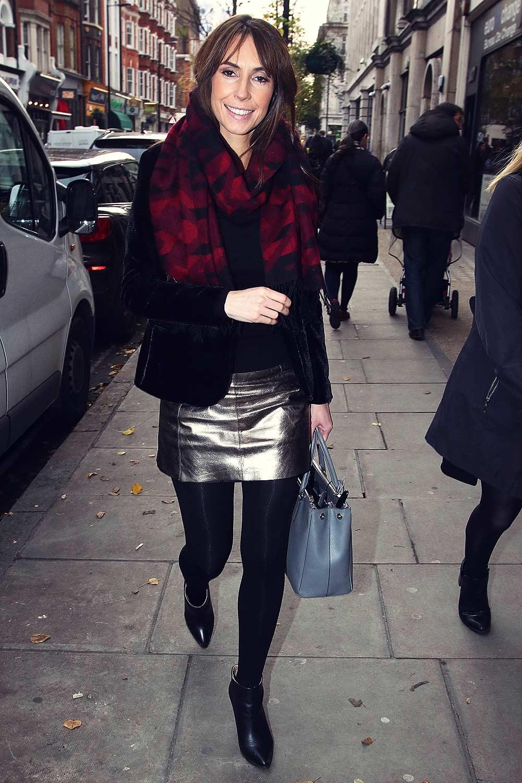 Alex Jones London Candids Leather Celebrities