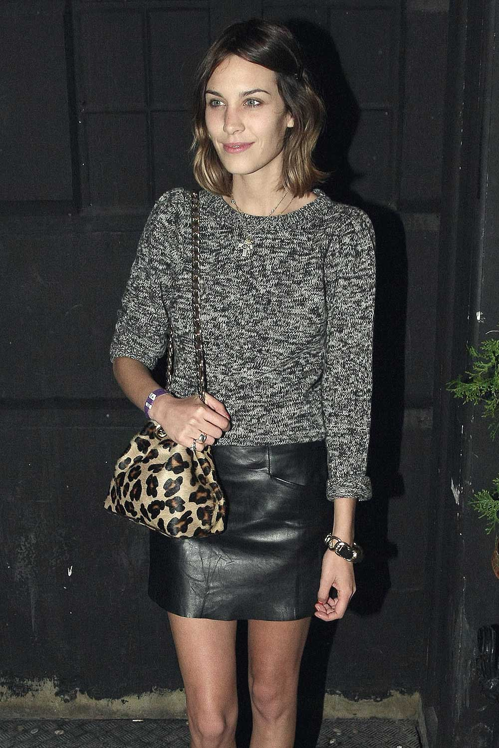 Alexa Chung at the Levi's Curve launch party