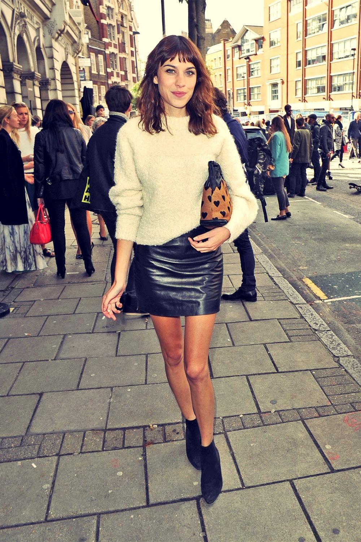 Alexa Chung attends London Fashion Week