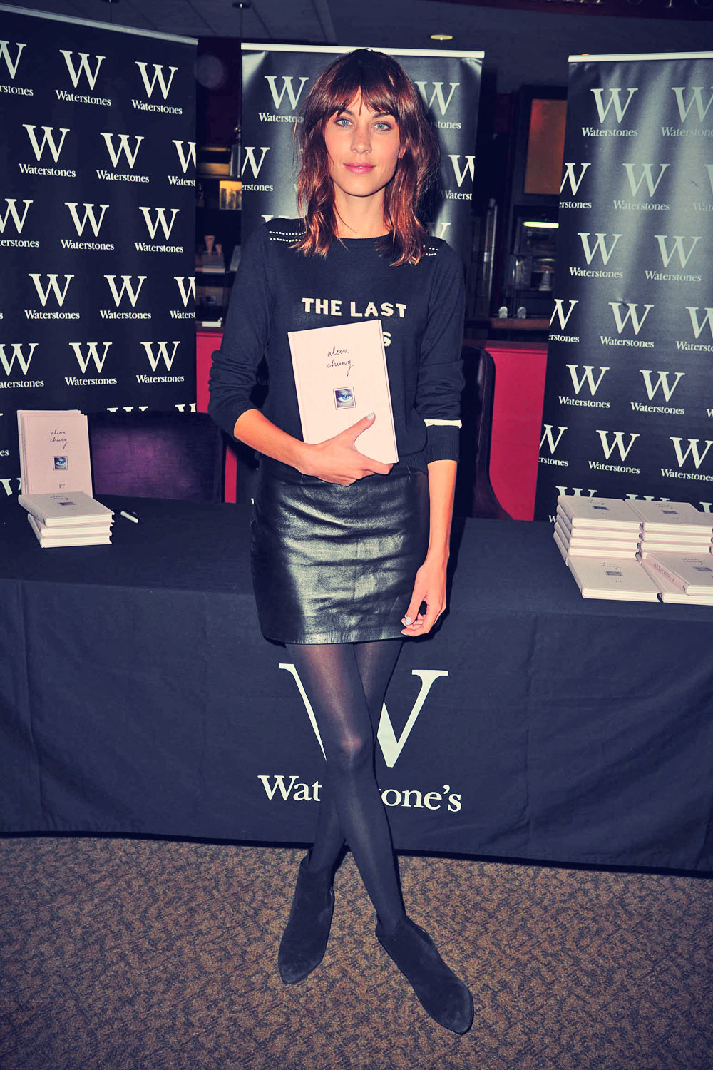 Alexa Chung signs copies of her book IT at Waterstone's