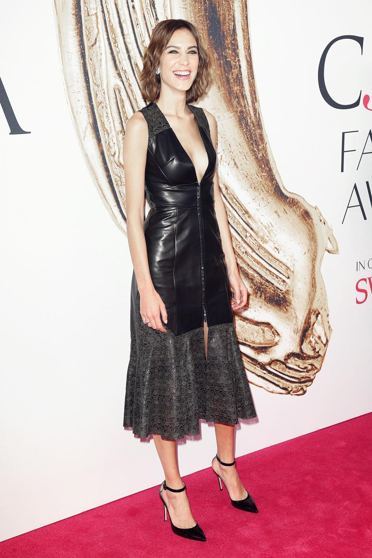 Alexa Chung attends CFDA Fashion Awards