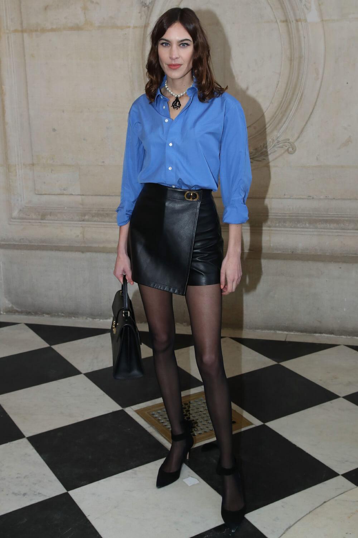 Alexa Chung attends Dior Haute Couture SS 2020 Show Paris