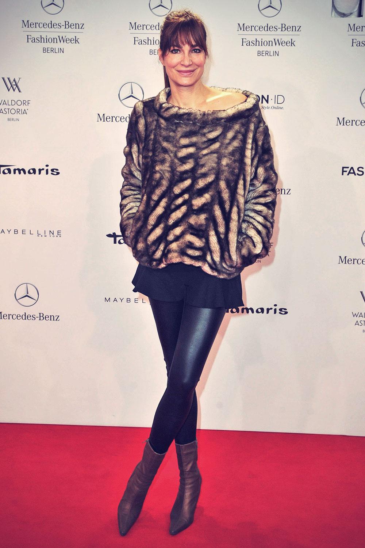 Alexandra Kamps attends Mercedes-Benz Fashion Week