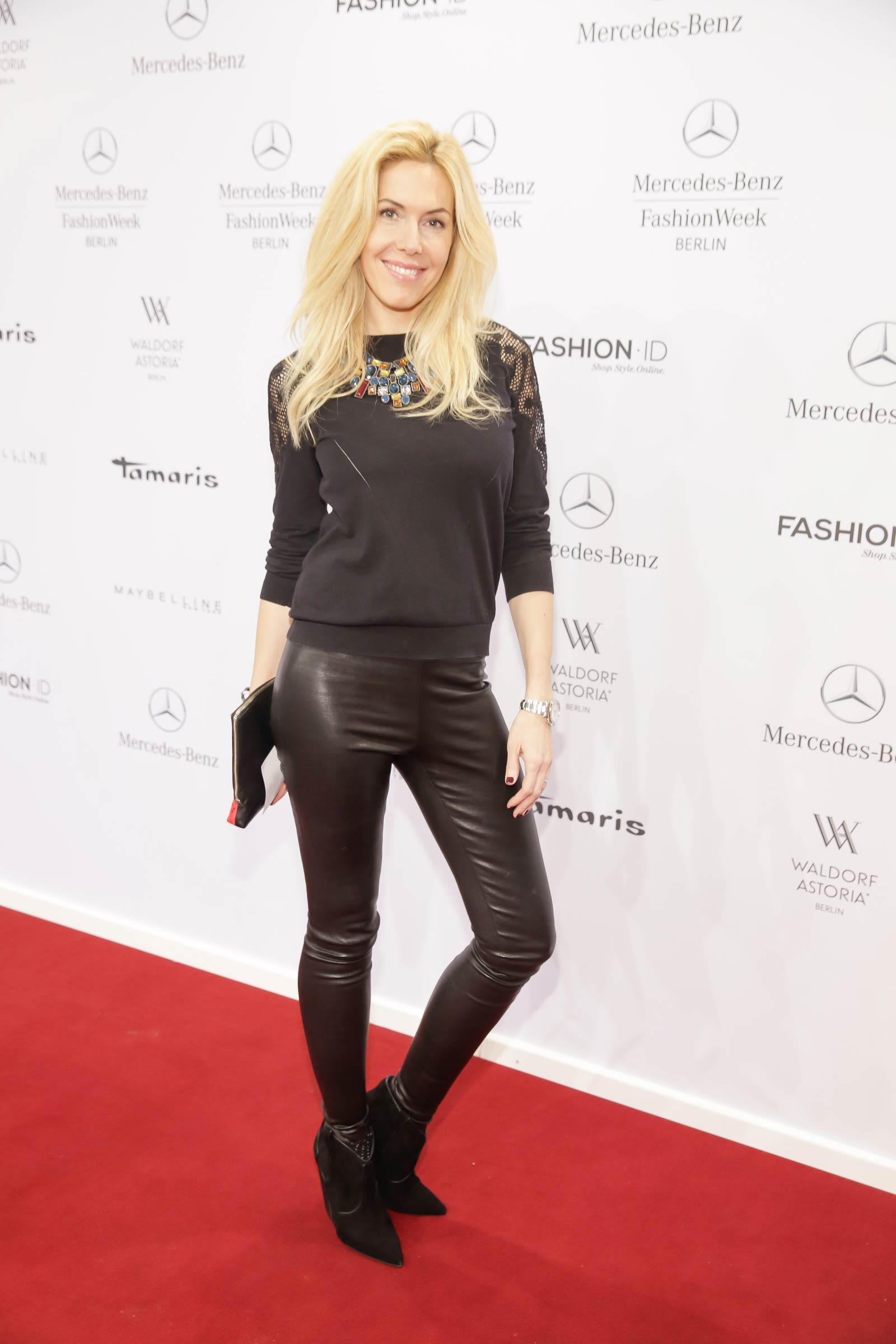 Alexandra Klim & Alexandra Polzin attend Merceses Benz Fashion Week