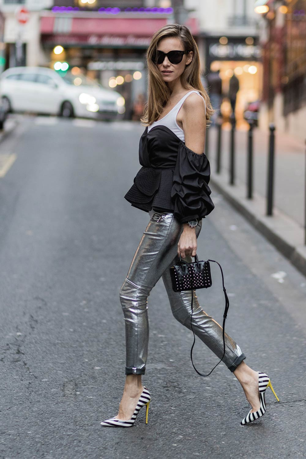Alexandra Lapp Street Style In Paris 2 Leather Celebrities