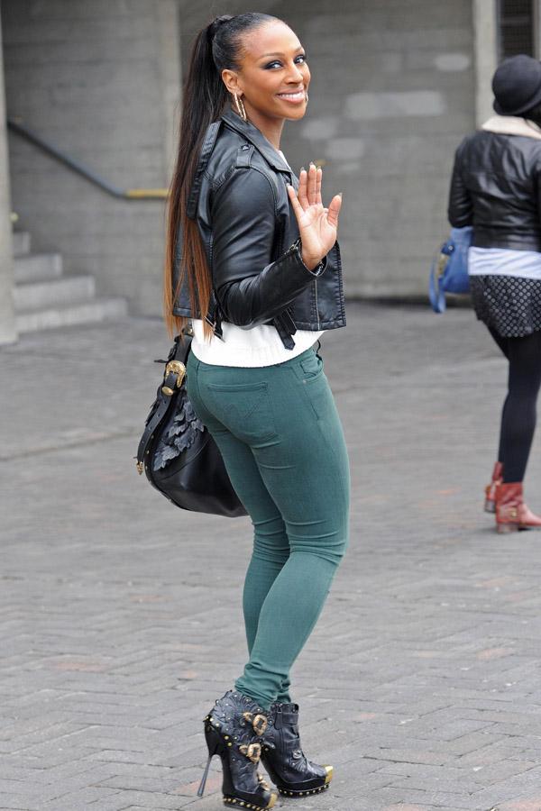 Alexandra Burke shopping along The South Bank in London