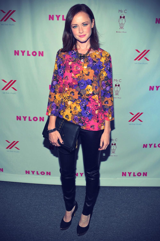 Alexis Bledel at Nylon September TV Issue Party
