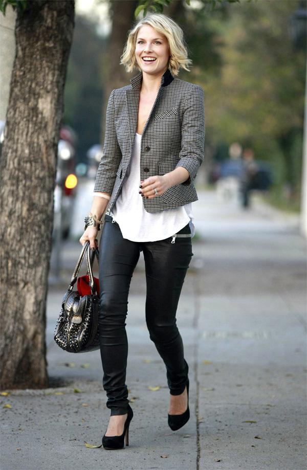 Ali Larter leaving Byron & Tracey Salon in Beverly Hills