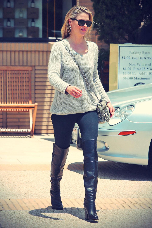 Ali Larter shopping at Barney's New York before heading to yoga