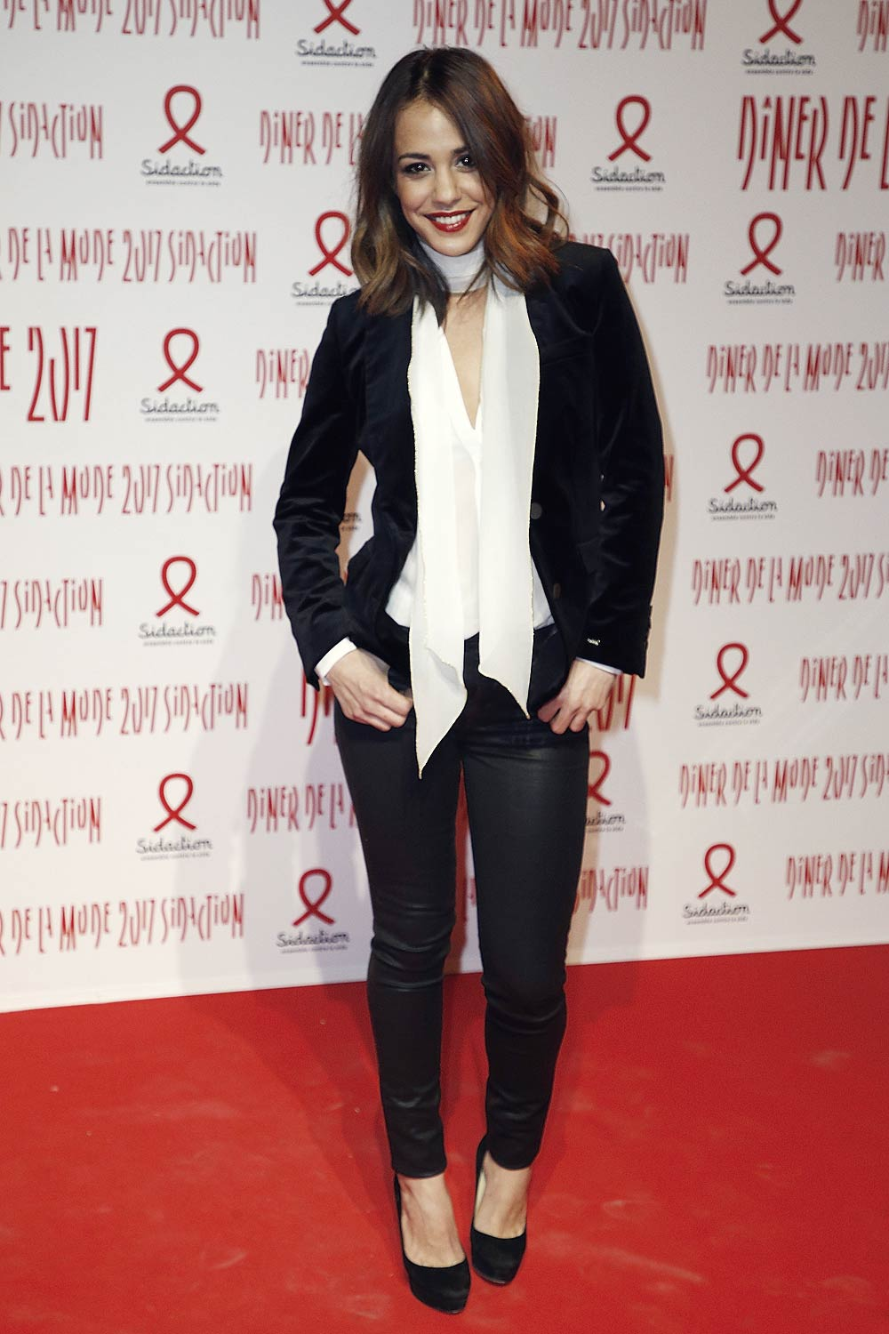 Alice Belaidi attends the Sidaction Gala Dinner 2017