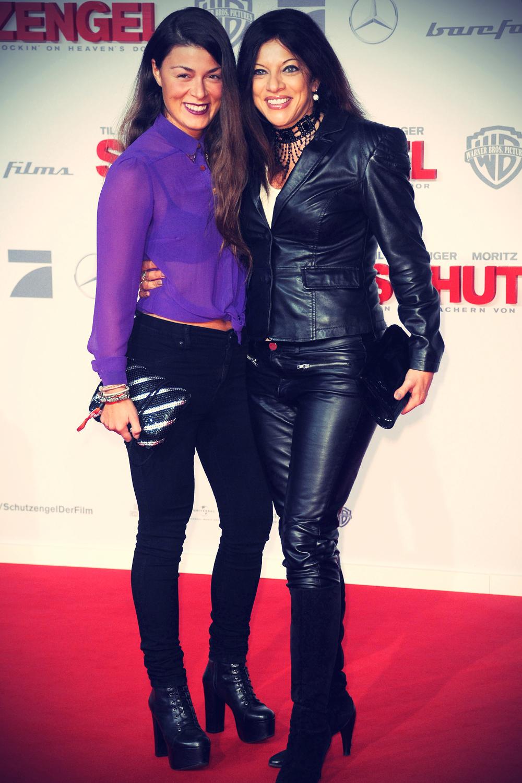 Alice Brauner and Laura Brauner at premiere Schutzengel