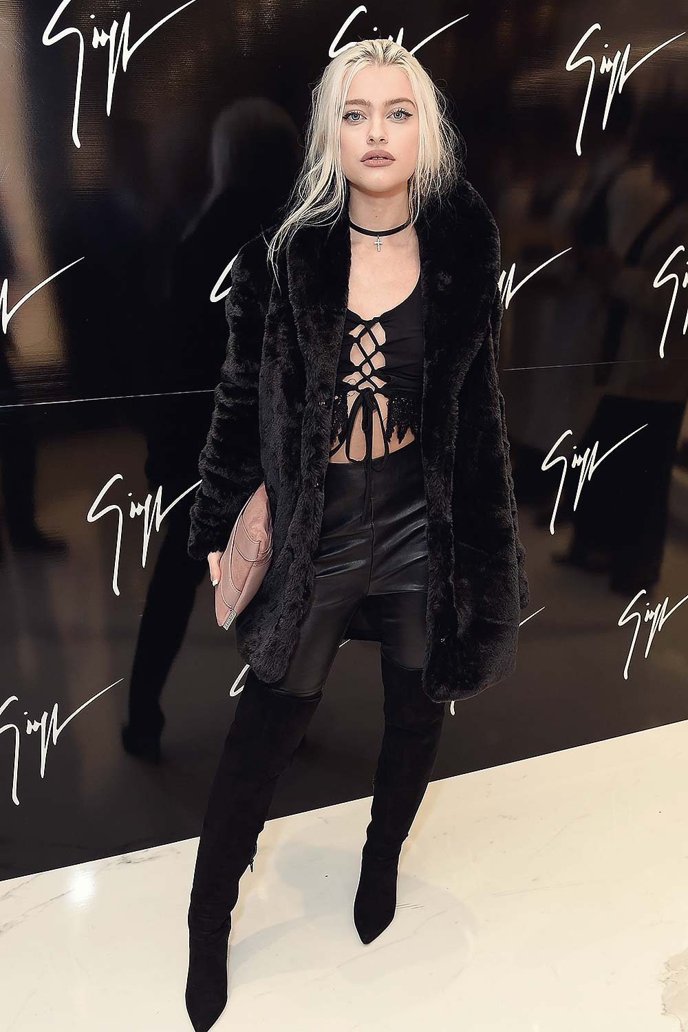 a77d2e046a5 Alice Chater attends the Giuseppe Zanotti London flagship store launch