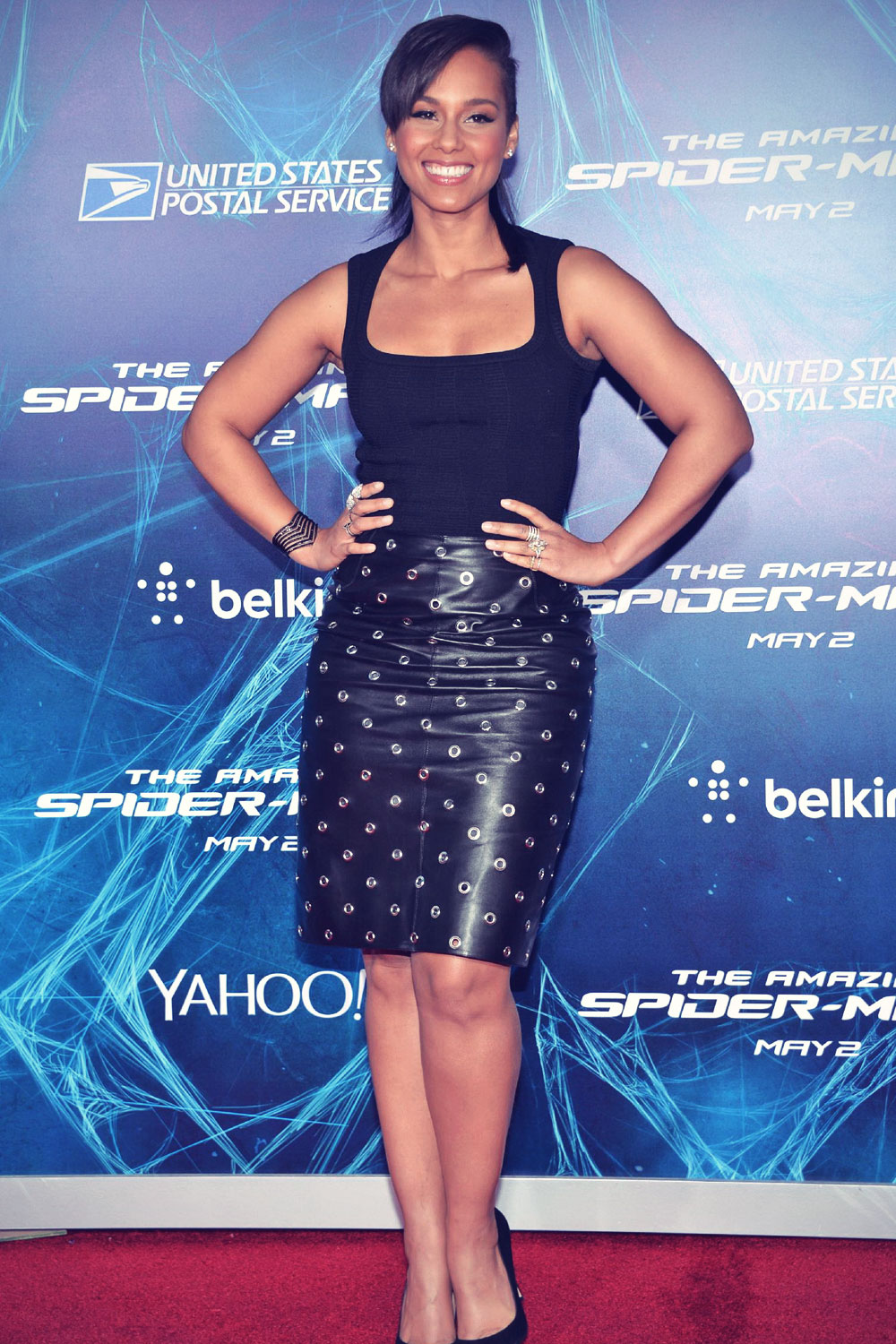 Alicia Keys attends The Amazing Spider-Man 2 premiere