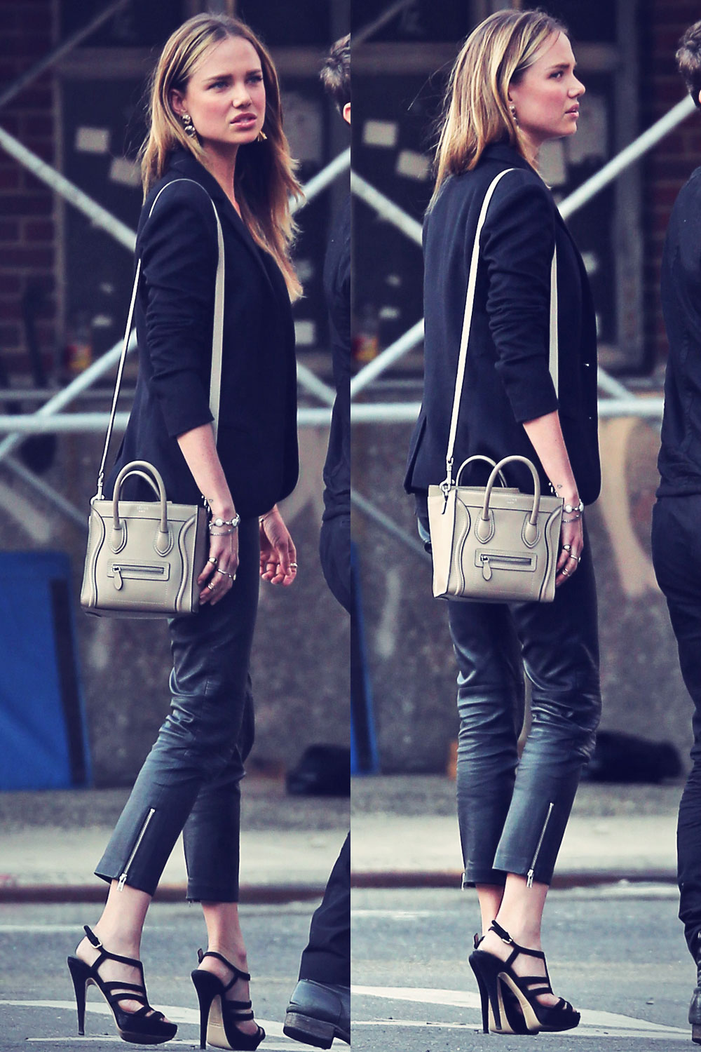 Alicia Rountree out and about in NYC
