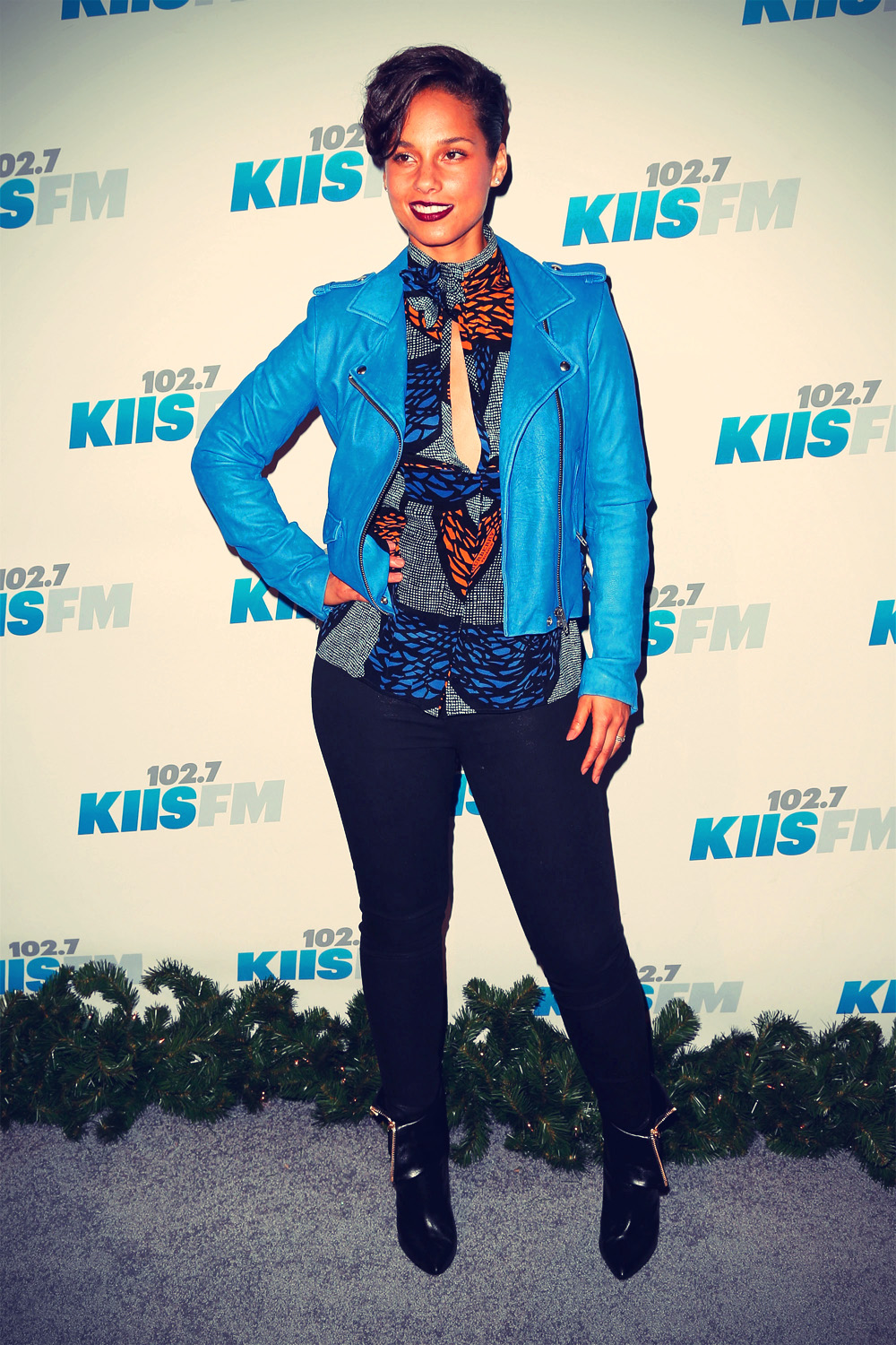 Alicia Keys during KIIS FM's 2012 Jingle Ball