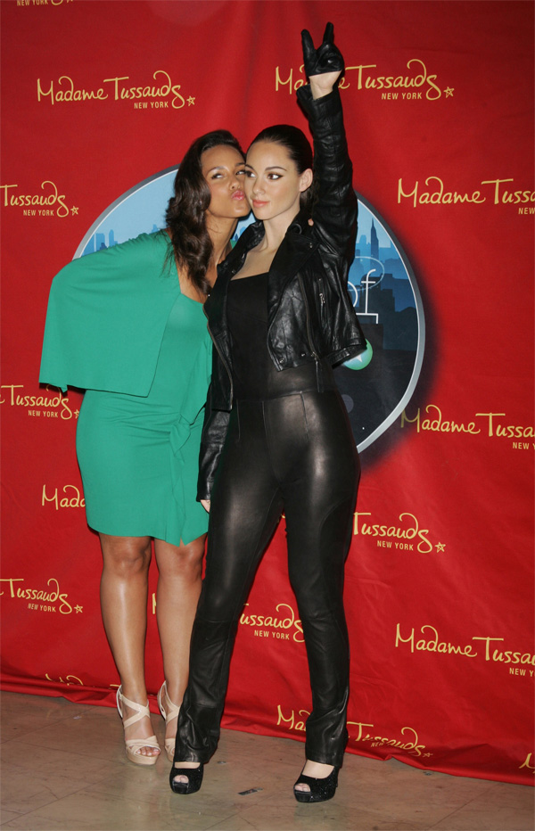 Alicia Keys unveiling of her waxwork at Madame Tussaud's in New York City