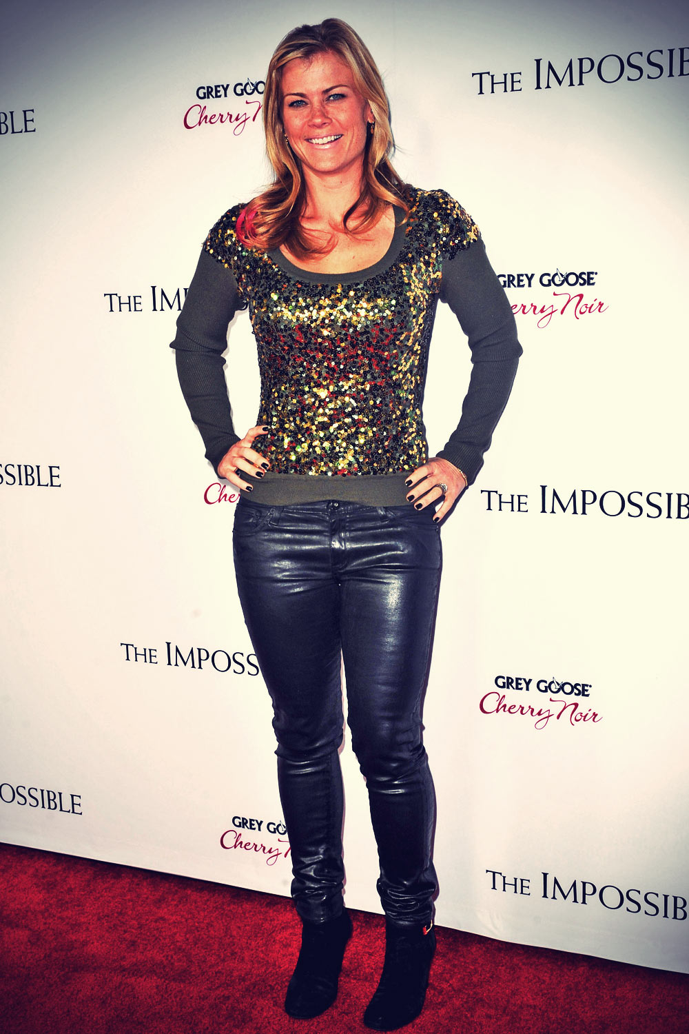 Alison Sweeney attends Los Angeles Premiere of The Impossible