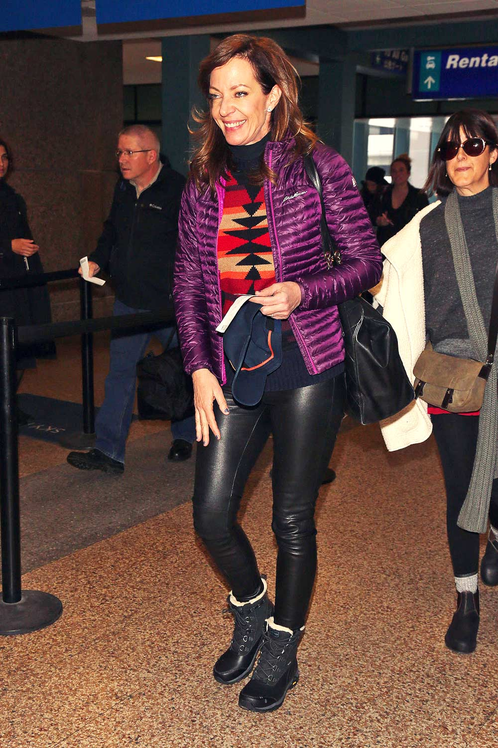 Allison Janney At Salt Lake City International Airport